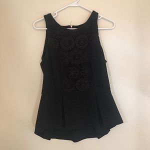Anthropologie black peplum tank